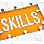 Puzzle piece reading 'skills'